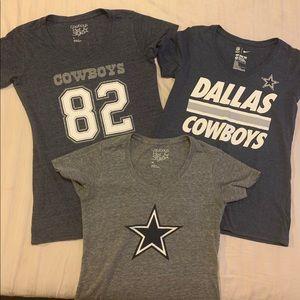 Dallas Cowboys women shirts- lot of 3
